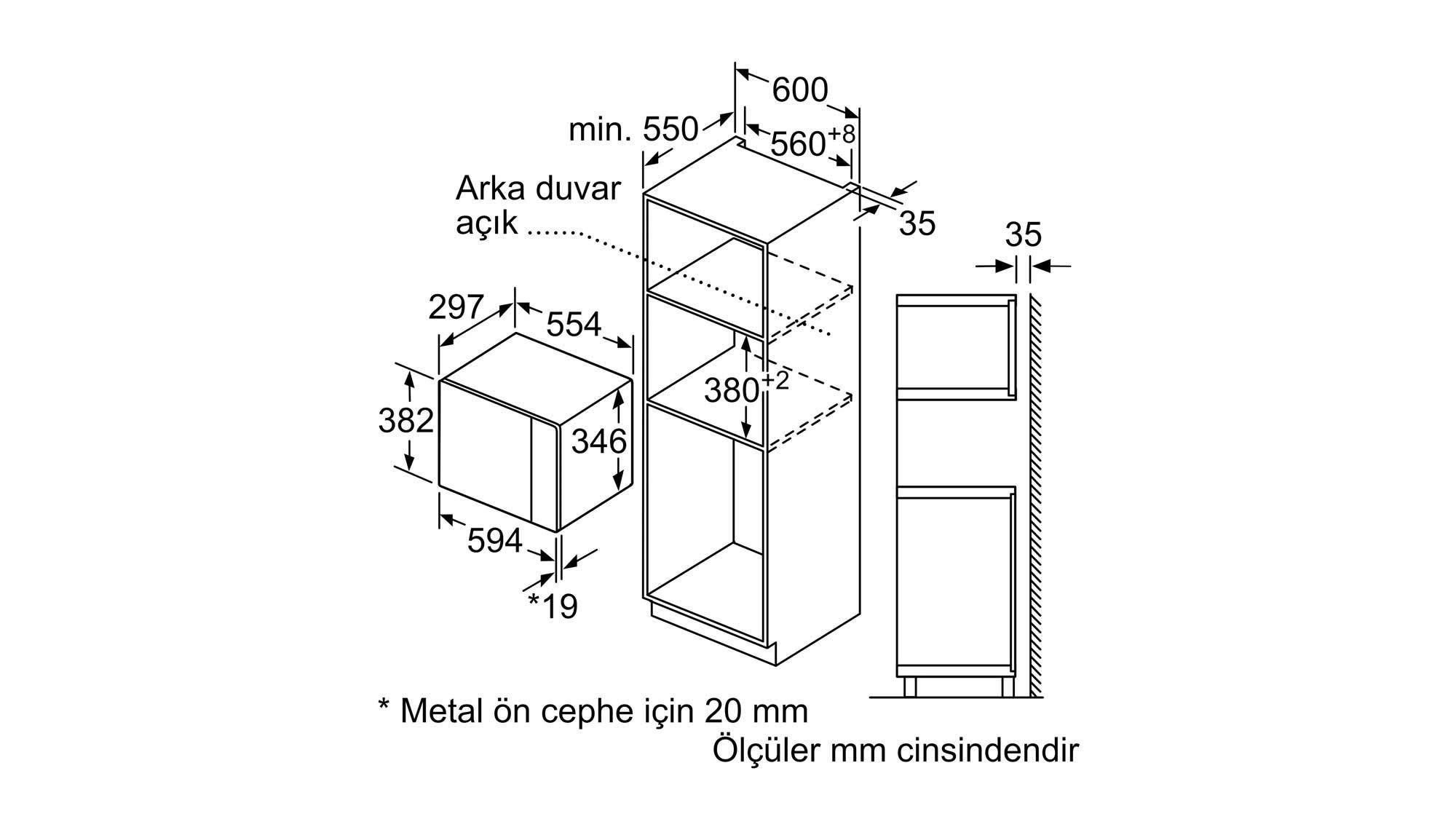 Bosch bfl524mw0 Ankastre Mikrodalga Fırın, bfl524mw0, bfl524mwo bosch