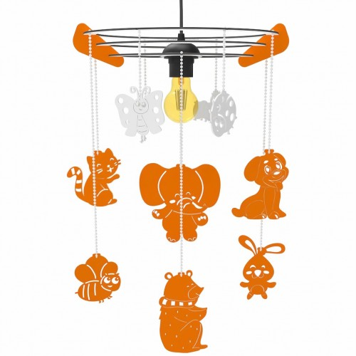 Çocuk ve Bebek Odası Avize Aydınlatma Dekoratif WoodACT Bellus Hayvan Dostlar