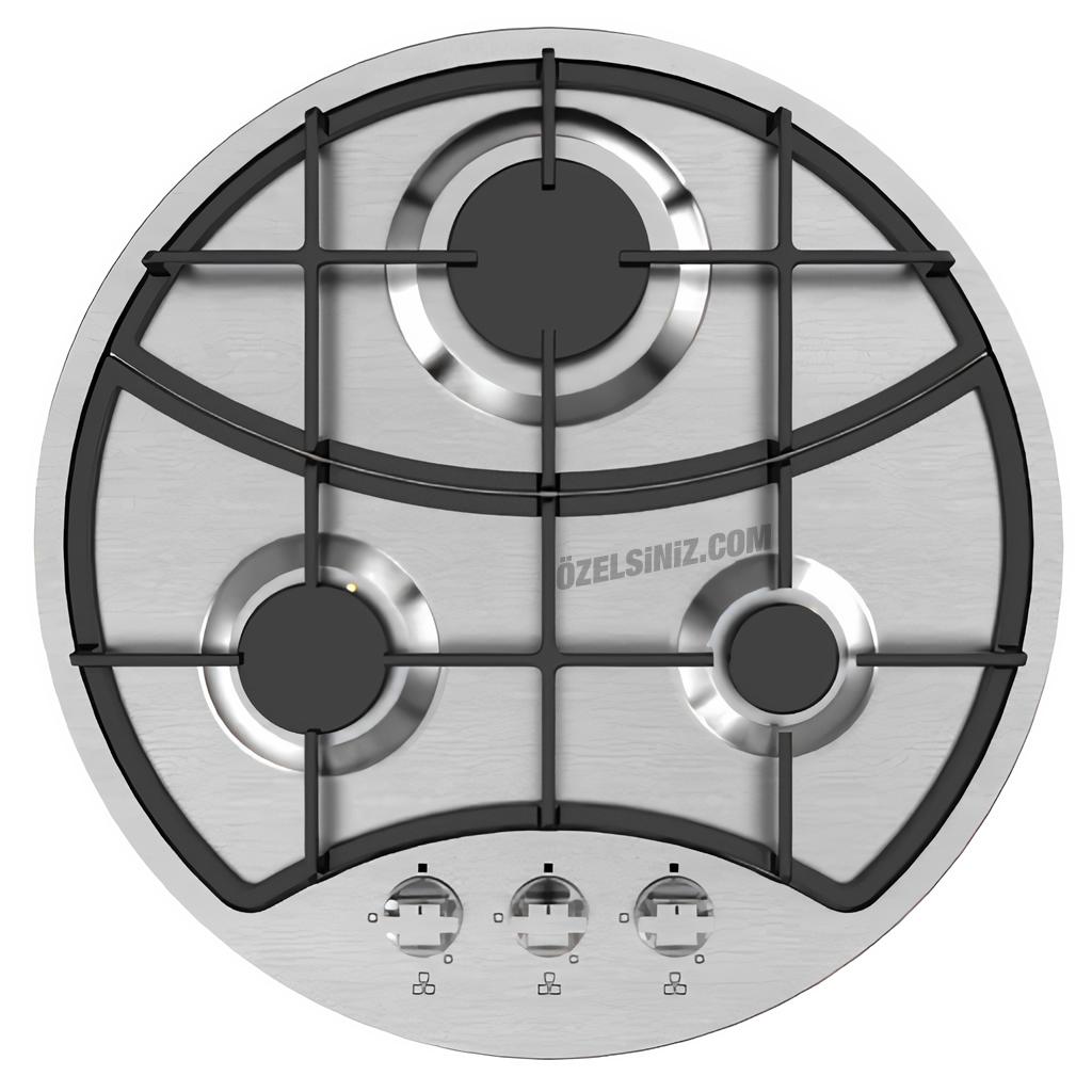 Vinola İnoks Yuvarlak Farklı Tasarım Ocak Mog6710.111.01