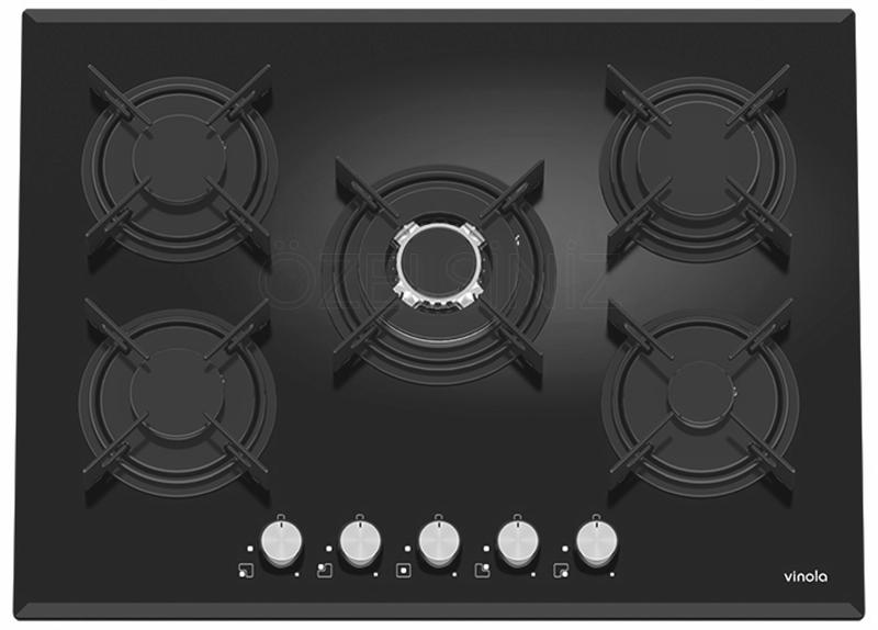 Vinola 70 cm Siyah Cam Ankastre Ocak 7110-01
