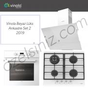 Vinola Beyaz Lüks Ankastre Set 2  -   2019