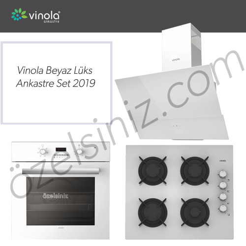 Vinola Beyaz Lüks Ankastre Set 2019