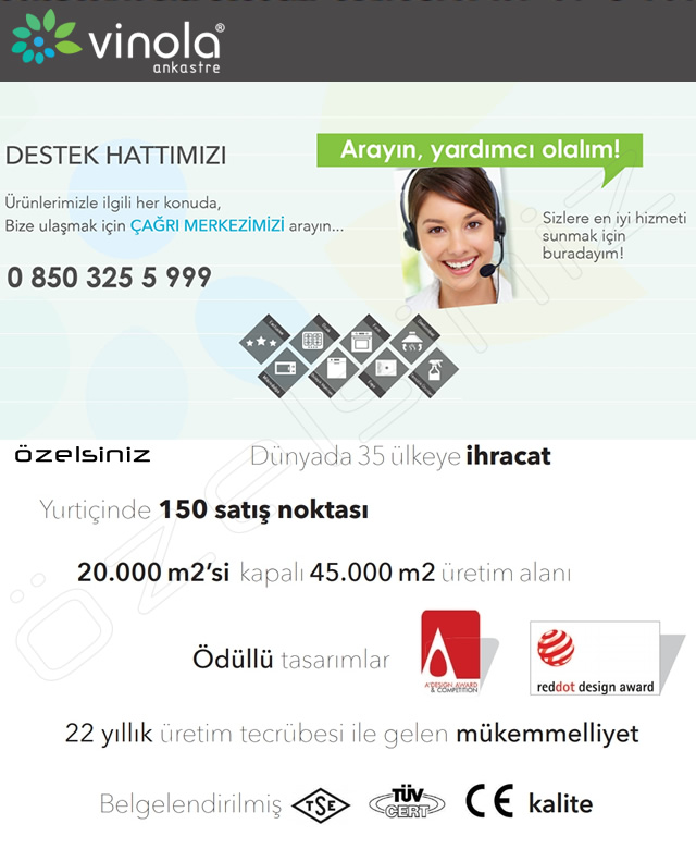 ViNOLA ANKASTRE RUSTİK FİLDİŞİ DAVLUMBAZ- CWR100.604 F