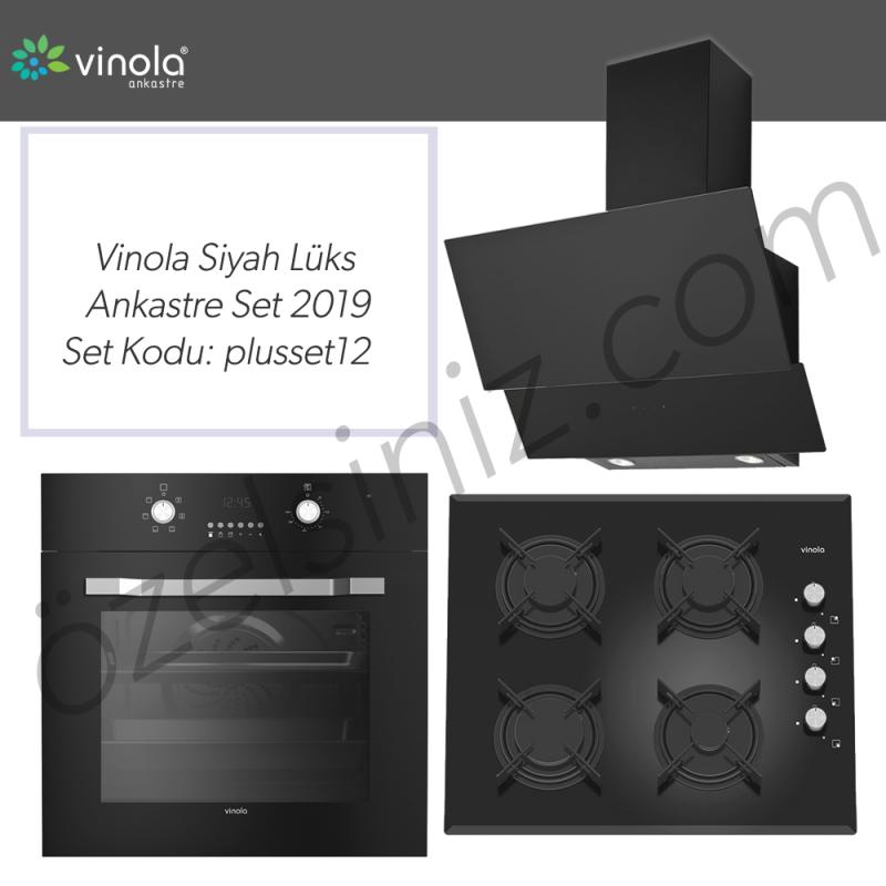 Vinola Siyah Lüks Ankastre Set 2019 -- set kodu : Plusset12